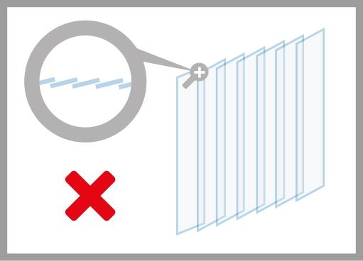 PVC-Streifenvorhang falsche Montage