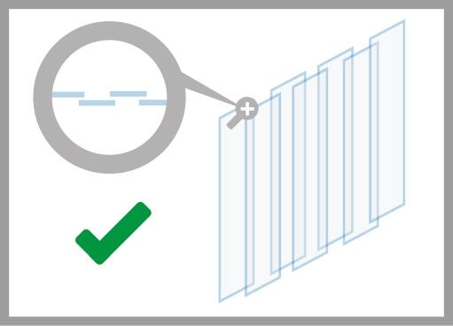 PVC-Streifenvorhang korrekte Montage
