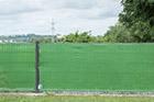 Windschutz Doppelstabmattenzaun hellgrün