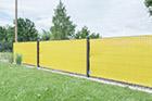 Windschutz Stabmattenzaun gelb
