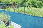 Windschutz Maschendrahtzaun aquablau